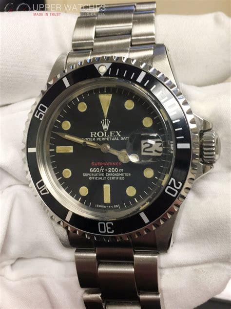 Rolex Red Submariner 1680 Feet First - Upper Watches