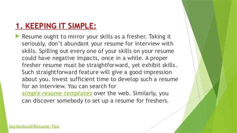 resume preparation for freshers 5 killer tips