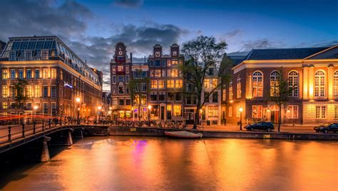 Amsterdam At Dusk 5k Retina Ultra Hd Wallpaper