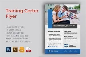Training Course Flyer Template Training Center Flyer Flyer Templates Creative Market