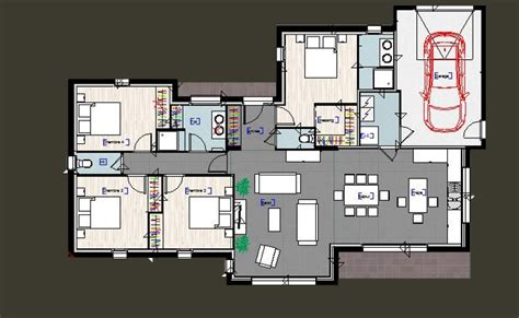 plan maison plain pied 4 chambres garage plan maison plain pied 3 chambres avec suite parentale et