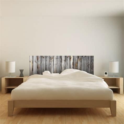stickers muraux sticker t 234 te de lit bois ancien d 233 coration chambre