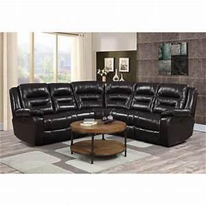 garrison 5 piece top grain leather modular reclining sectional With garrison leather sectional sofa