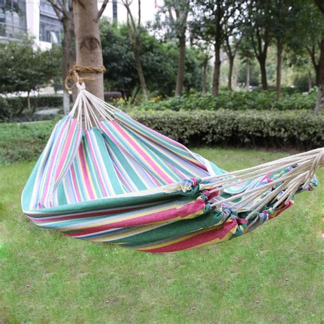 Suspended Hammock Bed by Joveco Cotton Fabric Canvas Hammock Tree Hanging Suspended