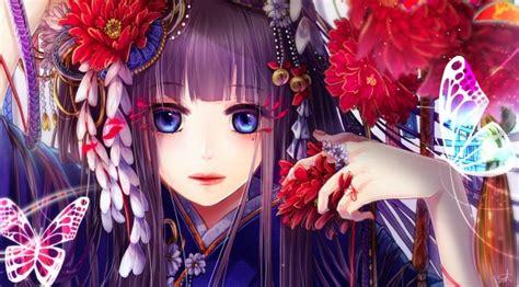 Anime Kimono Wallpaper - wallpaper kimono anime semi realistic butterfly