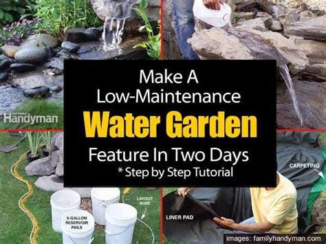 maintenance garden water feature   days