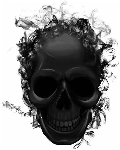 Skull Smoke Skeleton Transparent Background Sticker Halloween