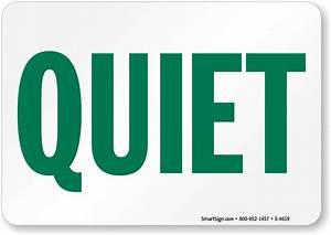 Image Gallery quiet sign