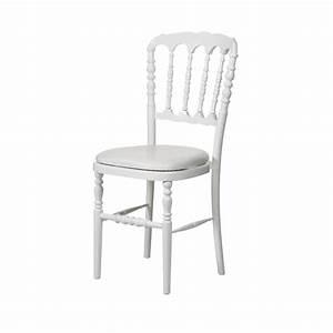 Chaise Blanche Bois : location chaise napol on iii blanche bois pic event ~ Teatrodelosmanantiales.com Idées de Décoration