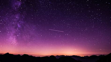 1920x1080 Shooting Stars In Purple Sky Laptop Full Hd