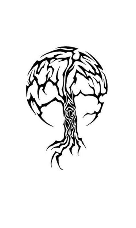 tribal tree tattoo flash pinterest trees