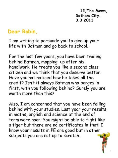 batmans letter