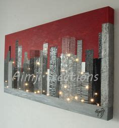 urbain tableau lumineux 30 leds 80x40x3 8cm moderne metal by aimji creations http www