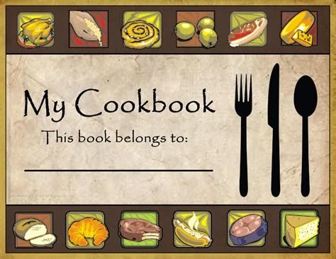10 Best Images Of Cookbook Covers Clip Art  Recipe Book