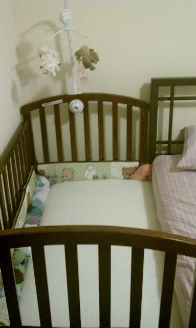Half Crib That Attaches To Bed by Scared Of Co Sleeping Attach The Cot To The Side Of Your