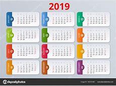 Calendrier Agenda pour l'année 2019 Modèle d'impression