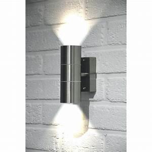Eclairage Exterieur Castorama : applique murale eclairage exterieur design verre et inox ~ Carolinahurricanesstore.com Idées de Décoration