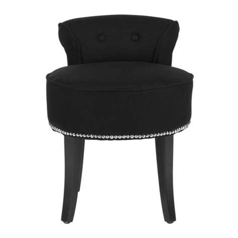 safavieh birch wood vanity stool in black mcr4546j