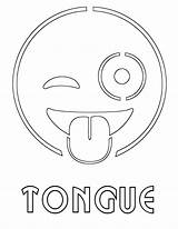 Tongue Coloring Pages sketch template