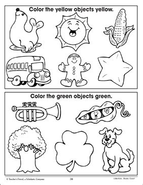 yellow  green coloring  pictures
