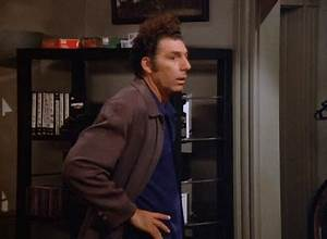 Reaction gif tagged with me?, don't know, Cosmo Kramer ...