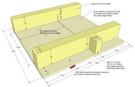 small table  sled plans