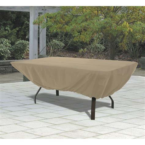 classic accessories terrazzo rectangular oval patio table