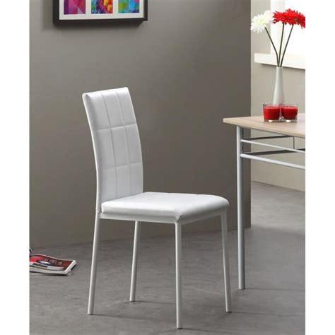 console cuisine dona lot de 4 chaises de salle à manger blanches achat