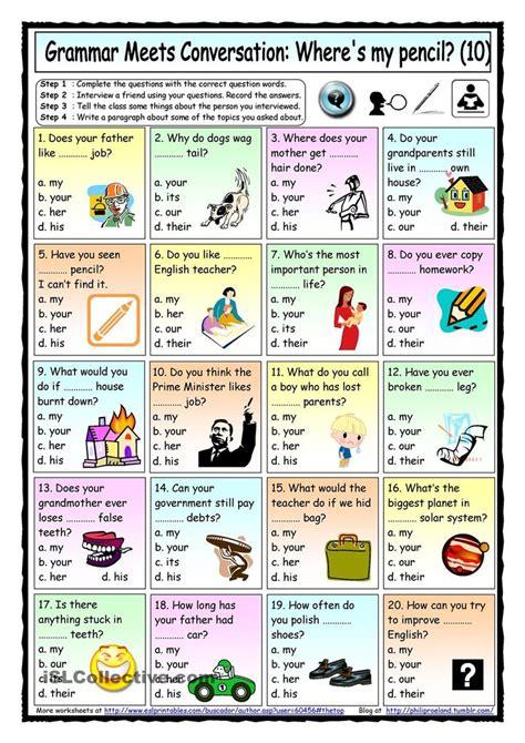 grammar meets conversation  possessive adjectives