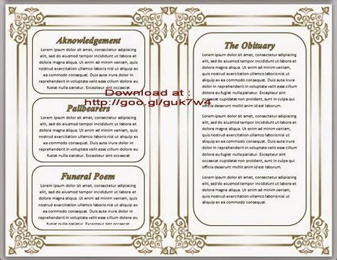 free obituary program template free obituary template cyberuse