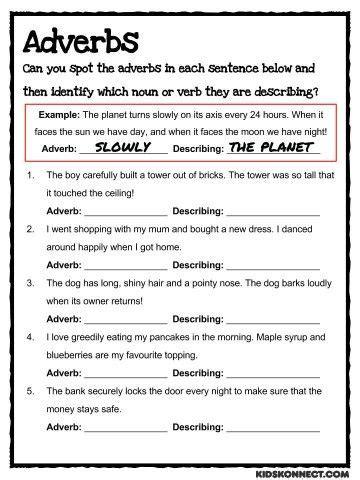 adverbs worksheets school ideas adverbs
