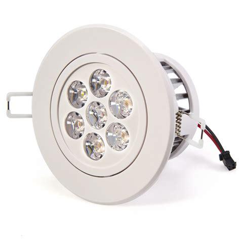 7 watt led recessed light fixture aimable recessed led