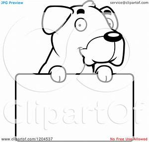 Black And White Cute Puppy Clipart - Clipart Suggest