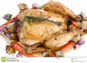 Roast Chicken With Vegetable Royalty Free Stock ...