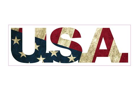 Letter Usa by Proud American U S A Flag Decal U S Custom Stickers