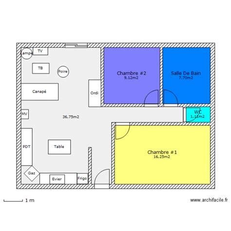 sous louer une chambre plan maison marocaine 80m2
