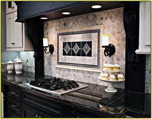 kitchen backsplash ideas with santa cecilia granite silver travertine tile backsplash home design ideas