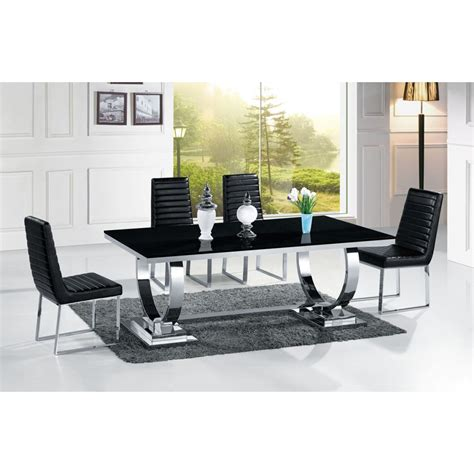 canape cuir 3 2 table de salle à manger en inox venezia mabre ou verre