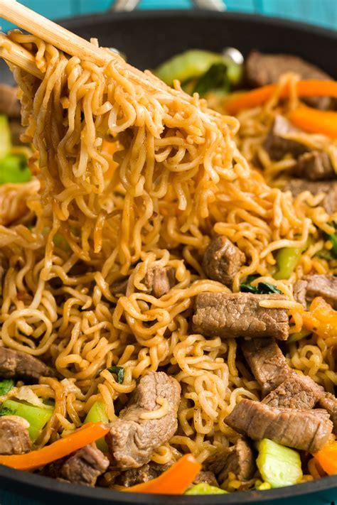 ramen noodle skillet  steak keeprecipes
