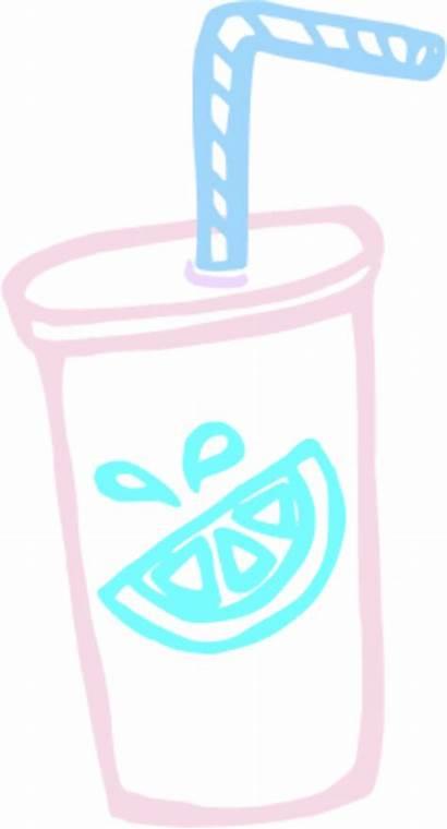 Cup Clipart Lemonade Straw Clip Smoothie Cartoon