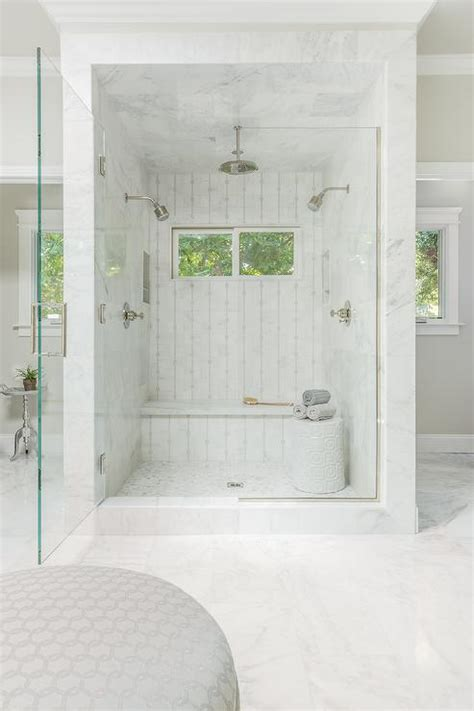 his and shower walk in shower for two transitional bathroom