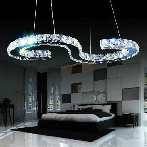 led light design contemporary magnificent new design s type led modern crystal chandelier lighting