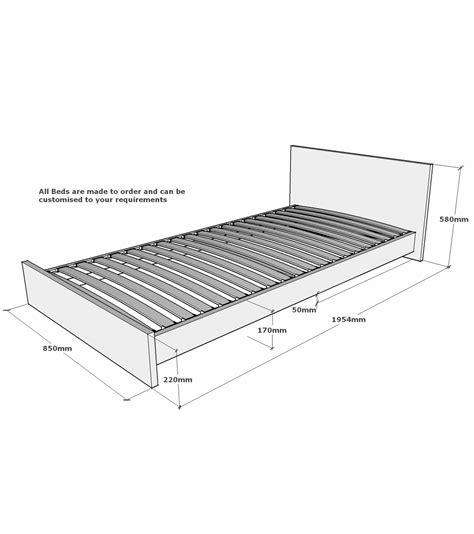 single mattress size lumbrook solid oak small single bed frame 2ft 6