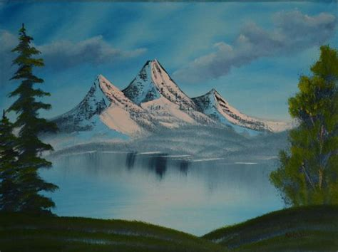Bob Ross Mountain Landscape Painting