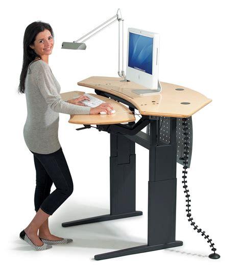 working on a standing desk fancy girl designs