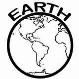 Earth Coloring Pages Printable Template Planets Clip sketch template