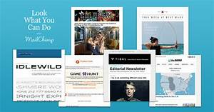 image gallery mailchimp examples With mail chimp newsletter templates
