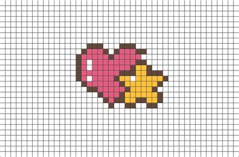 heart  star pixel art brik