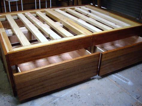diy wood bed frame plans diy  plans