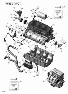 Sea Doo 2014 Gti - Gti 130  Engine Block